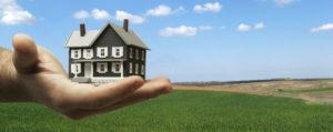 בית מוגש על כף יד